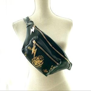Warner Bros. Bags - Harry Potter Gold Black Faux Leather Fanny Pack